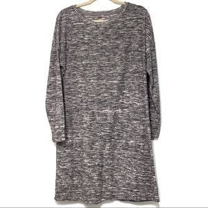 Lou & Grey Heather Gray Long Sleeve Dress Size L